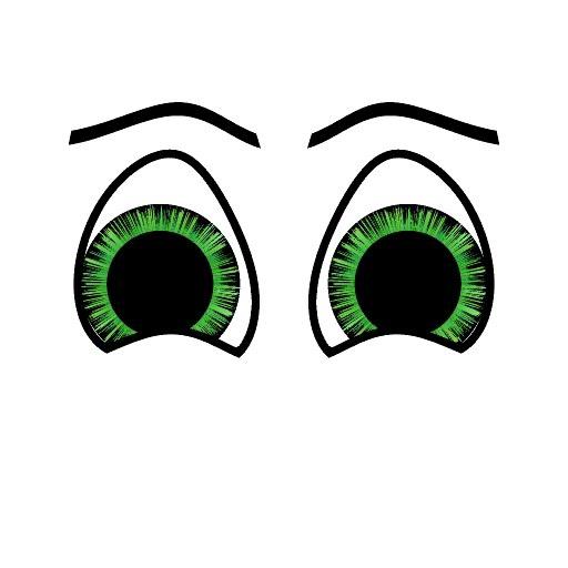 Comic Augen