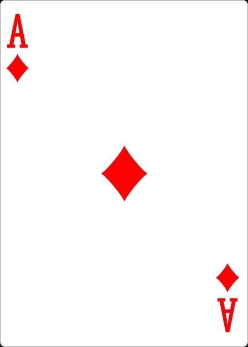 Spielkarte Karo