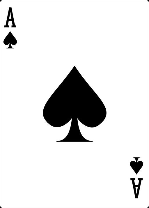 Spielkarten Ass